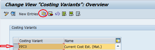 Costing Variants Configuration Steps in SAP