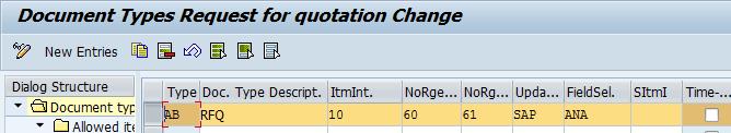 Define Purchasing Document Types (RFQ/Quotation)