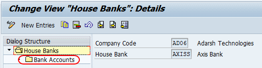 house bank account id creation