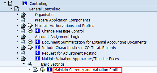 maintain currency and valuation profile