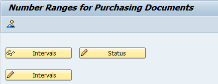 maintain number ranges for purchasing document types