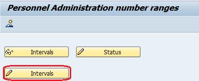 number range intervals for personnel numbers