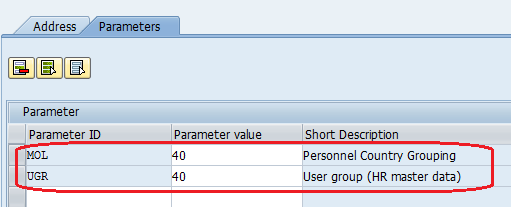 Maintain user parameters value