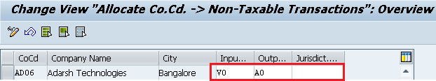 Assign Tax Codes for Non-Taxable Transactions entries
