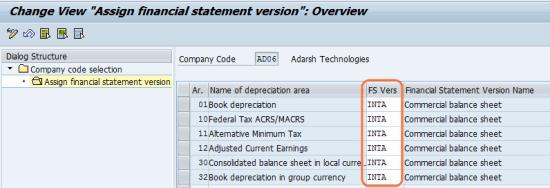 Assign financial statement version to cod