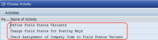 Change the Field Status Variant of the Asset GL Accounts