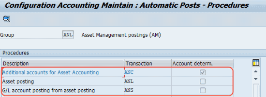 Asset Accounting Integration with General Ledger Accounting (FI - AA)