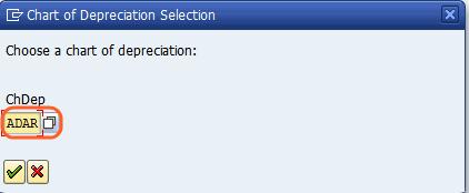 choose chart of depreciation