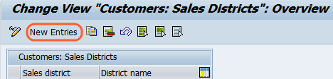customers sales districts