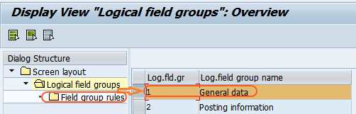 logical field group