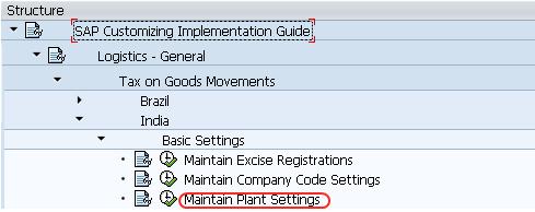 Maintain Plant Settings SAP Path
