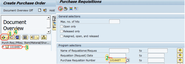How To Create Purchase Order Po For Stock Material In Sap