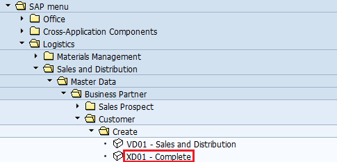 Create Customer master data by XD01 - SAP Training Tutorials