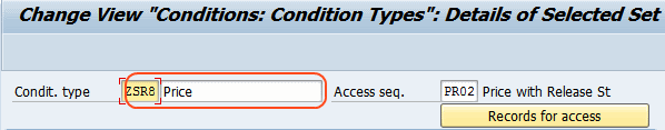 Define Condition Type for pricing in SAP