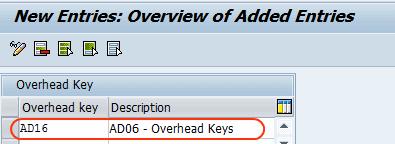 Overhead key new entries