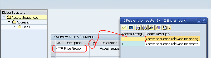access sequence entries