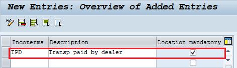 Define Incoterms in SAP
