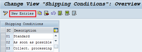 define shipping conditions