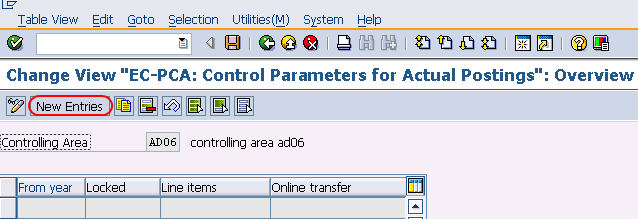 How to Set Control Parameters for Actual Data in SAP