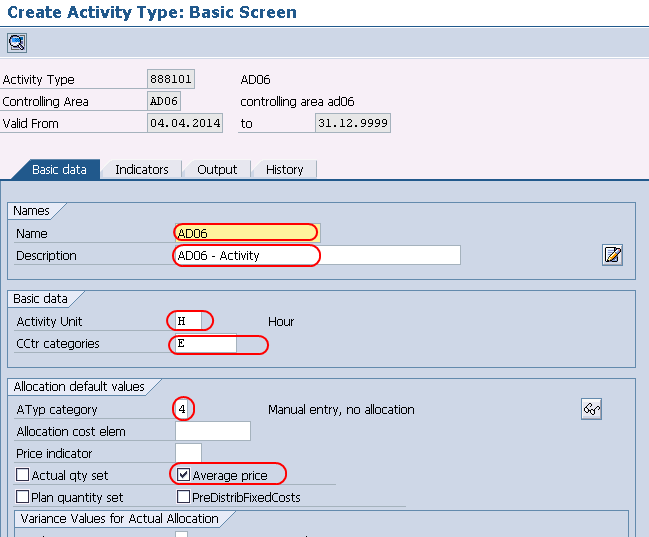 How to create Activity Types in SAP