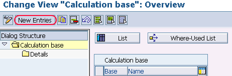 calculation base new entries