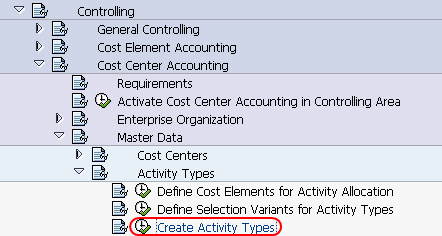 create activity types path