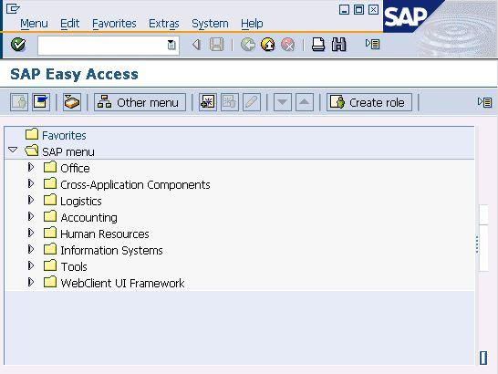 SAP Easy Access