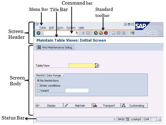Sap Easy Access Description Sap Screen Sap Training