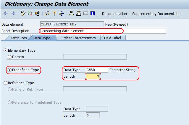 change data element