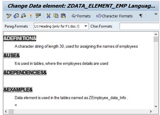 change z data element