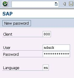 sap logon details
