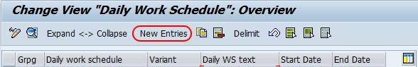 Define daily work schedules