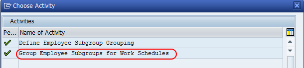 Group employee subgroups for work schedules