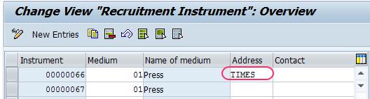addresses recruitment instrument