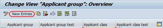 application group new entries