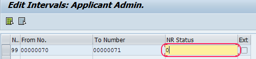 delete number ranges for applicant numbers sap hr
