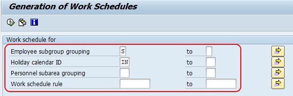 generation of work schedules in batch