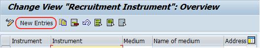 recrutiment instrument new entries
