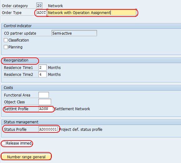 Create Network Types in SAP PS
