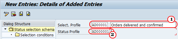 Define Selection Profiles in SAP