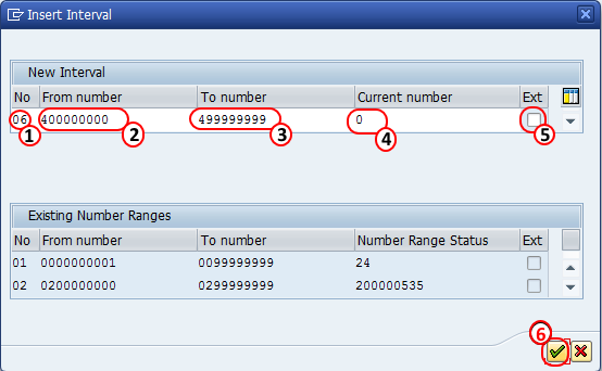 Create number ranges for budgeting SAP