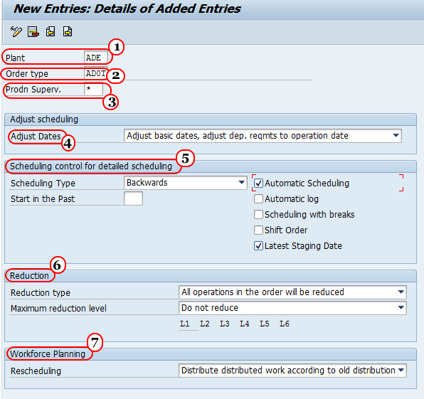 Define Parameters for Network scheduling in SAP PS