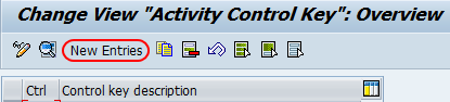 activity control key overview