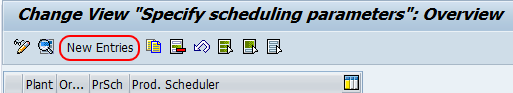 specify scheduling parameters