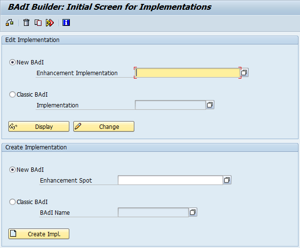SAP BADI implementation