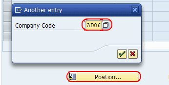 assign company code sample accounts