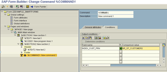change command smartforms