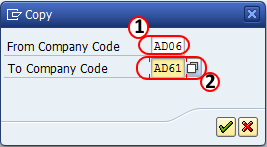 copy company codes