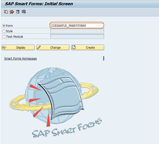 sap SMART FORMS INITIALSCREEN
