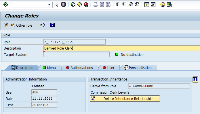 Derived role from importing file